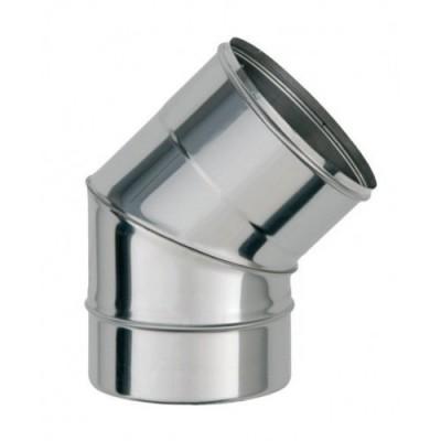 Колено дымоходное одностенное  нержавеющей стали 45*, Иронвент  D-350 мм 0,6 мм
