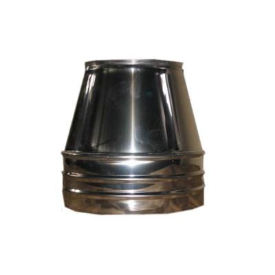 Конус дымоходный  нерж/нерж   D-100 мм толщина  0,6 мм