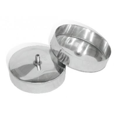 Лейка одностенная нержавеющая  сталь   Иронвент D-100 мм  0,6 мм