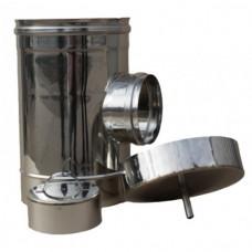Ревизия дымоходная одностенная нержавеющая сталь  Иронвент  D-110 мм  0,6 мм