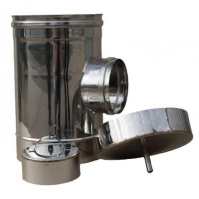 Ревизия дымоходная одностенная нержавеющая сталь Иронвент D-350 мм  0,8 мм