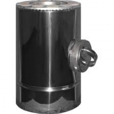 Ревизия дымоходная утепленная нержавеющая сталь /оцинкованная сталь Иронвент  D-160 мм   0,8 мм