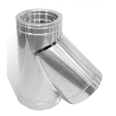 Тройник дымоходный утепленный нерж/оц  45°, D-350 мм толщина 1 мм