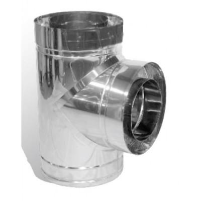 Тройник дымоходный утепленный Иронвент нержавеющая сталь /нержавеющая сталь  87°,    D-350 мм  1 мм