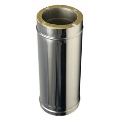 Труба дымоходная утепленная нержавеющая сталь /оцинкованная сталь L-0,5 м, Иронвент D-110 мм  0,8 мм