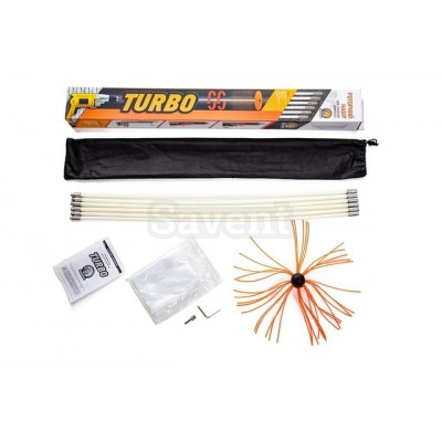 Роторный набор для чистки дымоходов Savent TURBO (1 м х 10 шт)